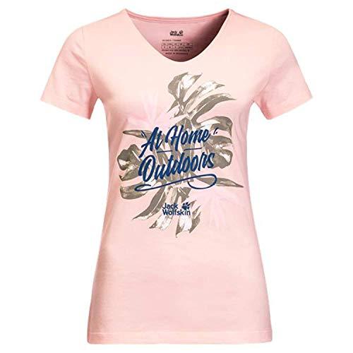 Jack Wolfskin Damen at Home T-Shirt, Blush pink, XS