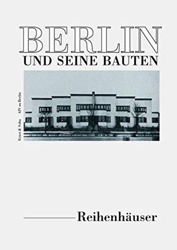 Berlin und seine Bauten, Tl.4D, Reihen- und Doppelhäuser