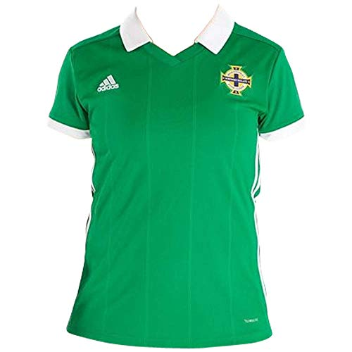 adidas Damen Nordirland Heimtrikot, Green/White, S