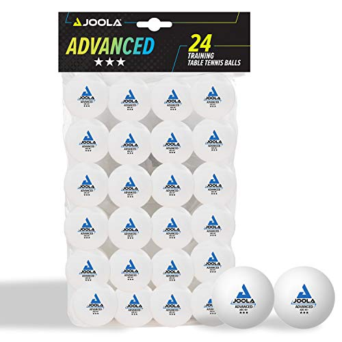 JOOLA Tischtennisbälle 3 Sterne Training Advanced 40+ mm Durchmesser Premium Tischtennis Bälle, Weiß, 24 Stück
