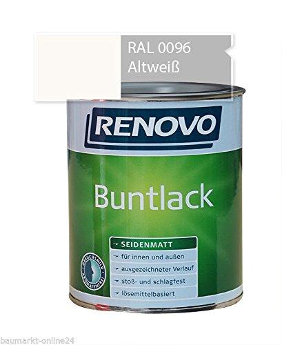 Buntlack 750 ml RAL 0096 Altweiß Seidenmatt Renovo