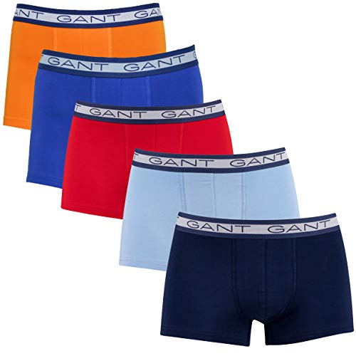 GANT Herren Basic Trunk 5-Pack Boxershorts, Russet ORANGE, L