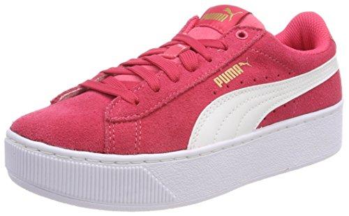 Puma Unisex Vikky Platform Jr Sneaker, Pink (Paradise Pink White), 38.5 EU