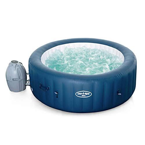 Alice's Garden Spa Lay-Z Airjet Plus – Milan blau – Whirlpool für 6 Personen, rund, Ø 200 cm, PVC, mit Fernbedienung, Heizung, Luftpumpe, Filter, Diffusor, Isolierdecke