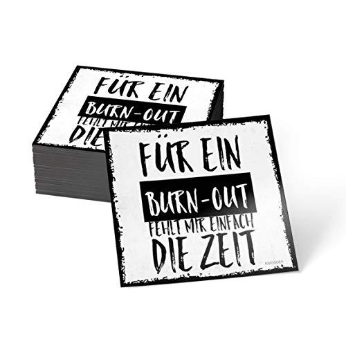 how about tee? Magnet-Sticker: Für EIN Burnout fehlt Mir einf. - Kühlschrankmagnet mit Spruch