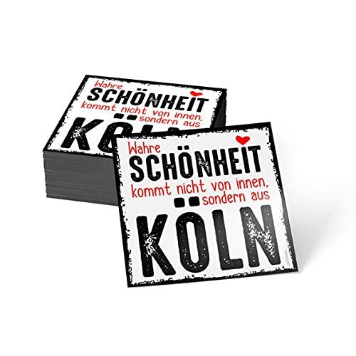 how about tee? Magnet-Sticker: Wahre Schönheit kommt Nicht vo. - Kühlschrankmagnet mit Spruch