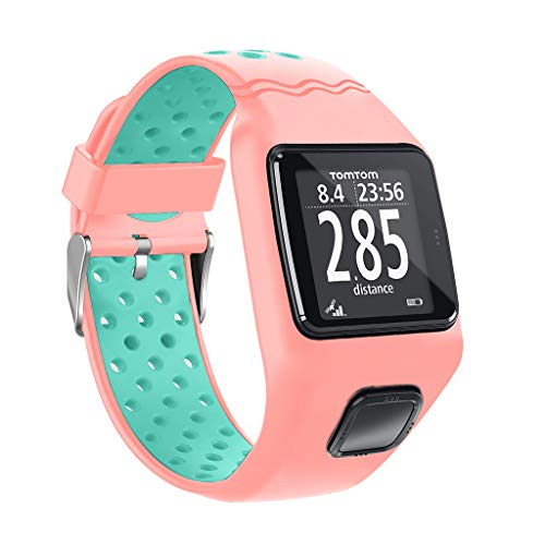 erticvtiu LINhuahua Uhrenarmband Silikon Ersatzarmband Armband für TomTom 1 Multi-Sport GPS HRM CSS AM Cardio Runner, Schnellverschluss
