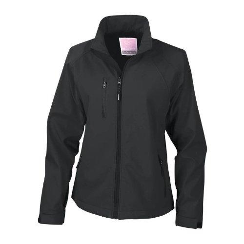Result Damen La Femma® Softshell-Jacke, 2-lagig, atmungsaktiv, Winddicht (S) (Schwarz)