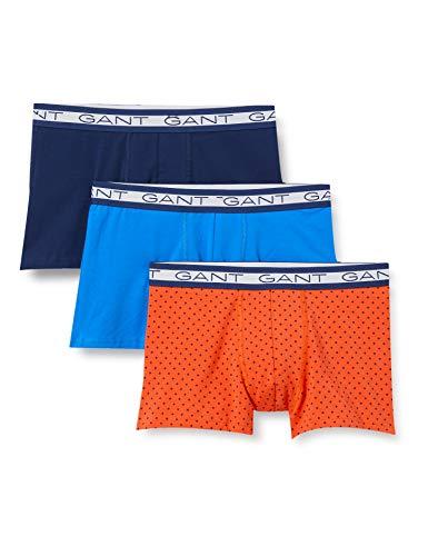 GANT Herren 3-Pack Basic Trunk Polka DOT Boxershorts, Atomic ORANGE, L
