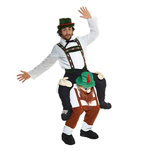 Morph Oktoberfest Huckepack Kostüm für Erwachsene, Lederhosen Verkleidung Damen Herren