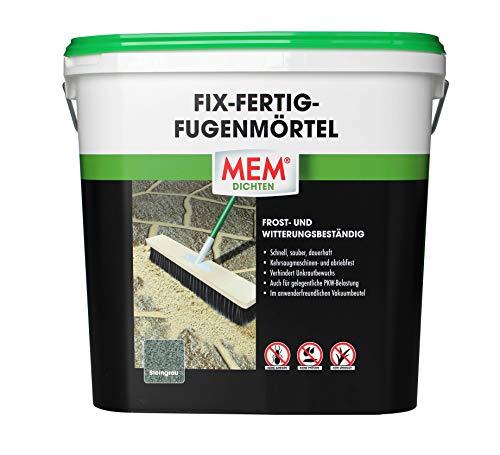 MEM Fix-Fertig-Fügenmörtel, Witterungsbeständig, Anwendungsfertig, Gegen Unkrautbewuchs, Steingrau, 12,5 kg