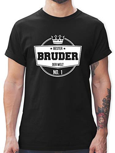 Bruder und Onkel Geschenk - Bester Bruder der Welt - M - Schwarz - Bester Bruder der Welt t-Shirt - L190 - Tshirt Herren und Männer T-Shirts