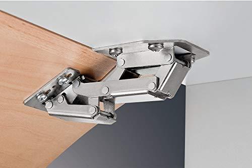 Gedotec Aufschraubscharnier CH 300 Caravan-Scharnier für aufliegenden Anschlag | Stahl vernickelt | Aufschraubband Tür & Klappen-Gewicht 2,1 kg | 2 Stück - Möbelscharnier Möbeltüren & Schranktüren