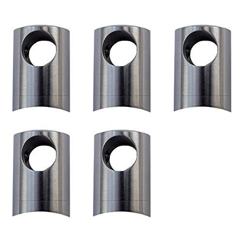 5 x Premium Querstabhalter Edelstahl Ø 22 mm für 10 mm Rundstäbe Stabhalter Relinghalter Traversenhalter von SO-TOOLS®