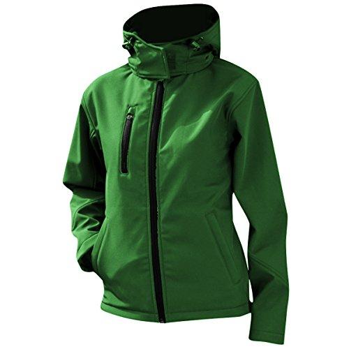 Result Core Lite Damen Softshell-Jacke mit Kapuze (2XL) (Grün/Schwarz)