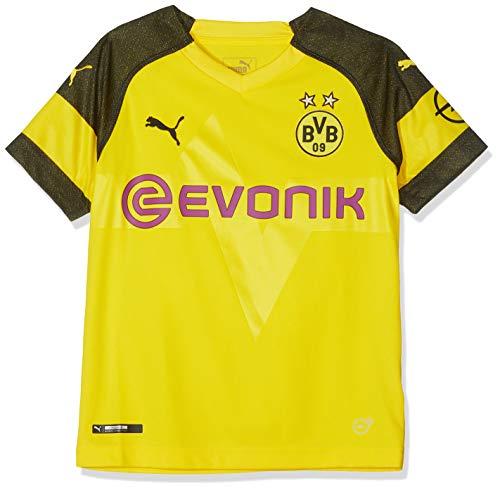 PUMA Trikot BVB Home Shirt Replica Jr with Evonik Logo with OPEL Logo, Cyber Yellow, 128, 753312