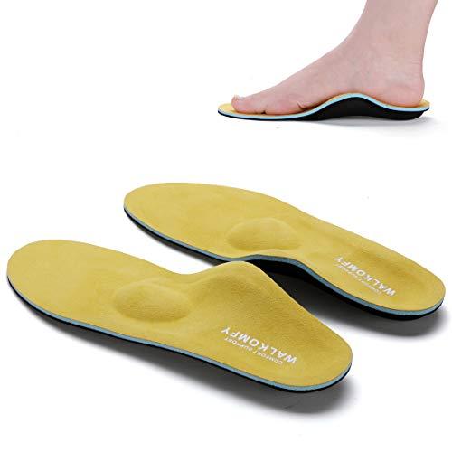 Walkomfy Orthopädische Einlegesohlen mit Fußgewölbestütze, Arch Support Einlagen Schuhe für Plattfuß, Plantarfasziitis, Fersensporn, Fußschmerz, Sport Schuheinlagen für Damen und Herren