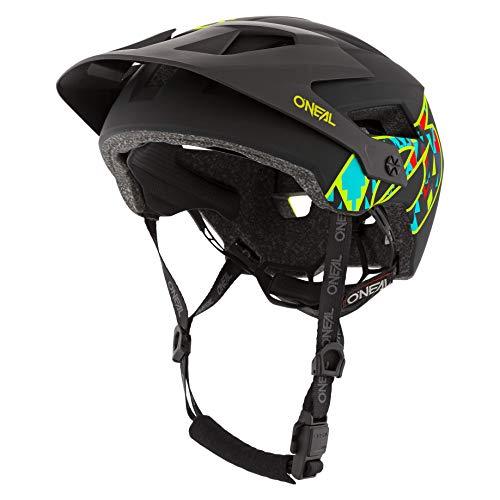 O'NEAL | Mountainbike-Helm | Enduro All-Mountain | Belüftungsöffnungen zur Kühlung, Polster waschbar, Sicherheitsnorm EN1078 | Helmet Defender Muerta | Erwachsene | Schwarz | Größe L XL
