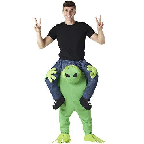 Morph Alien Huckepack Kostüm für Erwachsene, Halloween Karneval, Damen Herren