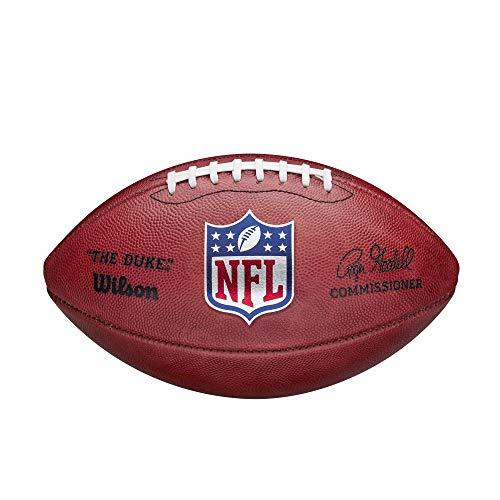 Wilson American Football NFL The Duke, Offizielle NFL-Größe, Horween-Leder, braun
