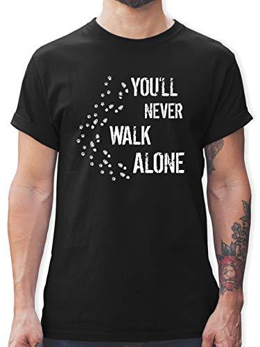 Geschenk für Hundebesitzer - You'll Never Walk Alone Gassi - XXL - Schwarz - L190 - L190 - Tshirt Herren und Männer T-Shirts