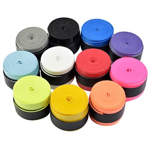 Griffband für Tennisschläger, Badminton, Squashschläger, rutschfest, selbstklebend, 11 Farben