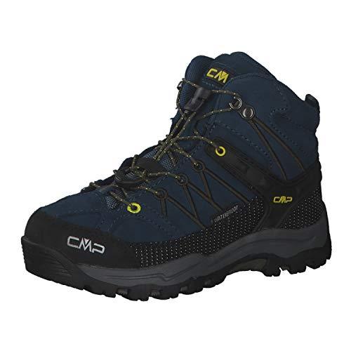 CMP Kinder Rigel MID WP Schuhe, Blue Ink-Yellow, EU 39