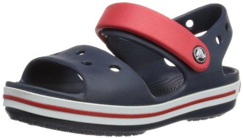 Crocs Crocband Sandal Kids, Unisex - Kinder Sandalen, Blau (Navy/Red), 19/20 EU
