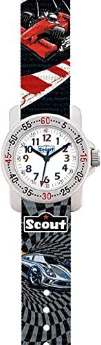 SCOUT Jungen Analog Quarz Uhr mit Stoff Armband 280376008
