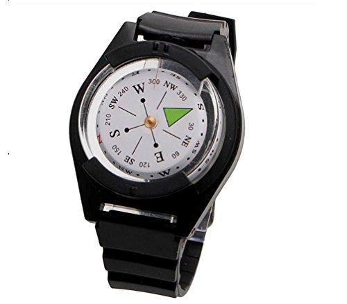 Hycy Tactical Wrist Compass Speziell Für Militär Outdoor Survival Watch Black Band