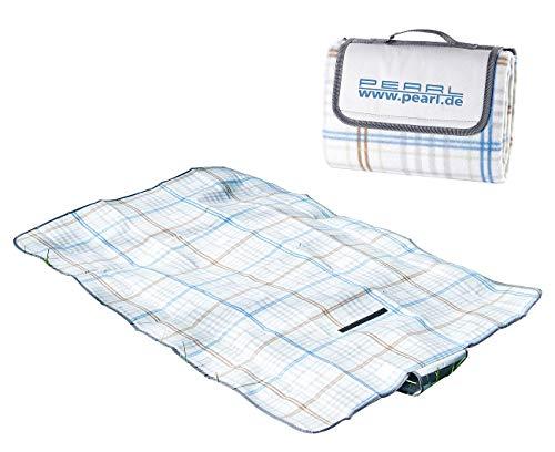 PEARL Camping Decke: Fleece-Picknick-Decke mit wasserabweisender Unterseite, 140 x 100 cm (Strandmatten)