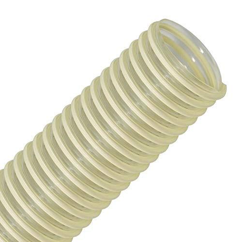FLEXTUBE PU L-AS 40mm, Länge Meterware - leichter, Polyurethanschlauch, Absaugschlauch mit PVC Spirale, antistatisch, Förderschlauch, Saugschlauch