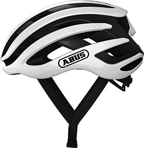 ABUS AIRBREAKER Rennradhelm - High-End Fahrradhelm für den professionellen Radsport - Unisex, für Damen und Herren - 81732 - Weiß, Größe M