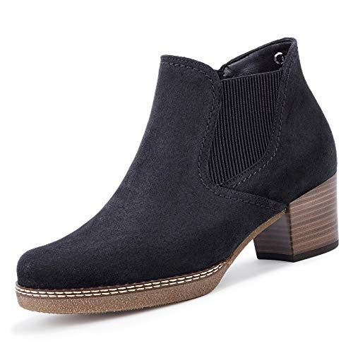 Gabor Damen Chelsea Boots, Frauen Stiefeletten,Wechselfußbett,Mehrweite, Schlupfstiefel Stiefel,Pazifik(S.nat/Mic),40.5 EU / 7 UK