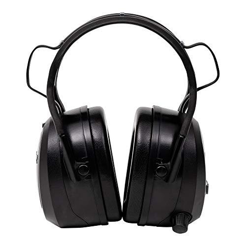 STIER Kapselgehörschutz, SNR 29 dB, CE zertifiziert, mit FM Radio, Bluetooth & AUX, Gehörschutz, 16h Nutzungsdauer, mit 4GB-SD Card