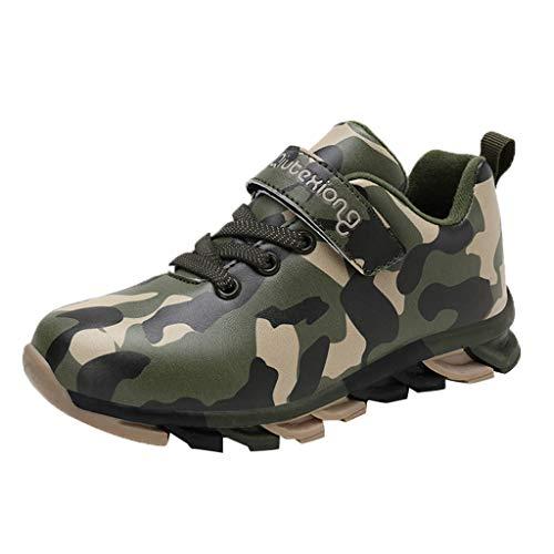 Alwayswin Kinder Jungen Camouflage Turnschuhe Mesh Atmungsaktiv Sneakers Mode Laufschuhe Bequem Lässig Sportschuhe Kinderschuhe Freizeitschuhe Weicher Boden Klettverschluss Sneaker