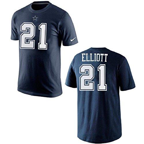 NFL Football T-Shirt Dallas Cowboys Ezekiel Elliott #21 Trikot Jersey Receiver (XL)