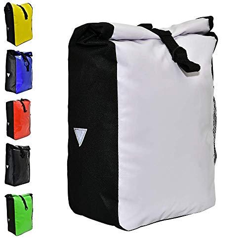 Büchel Unisex Büchel Fahrradtasche aus Tarpaulin, weiß, zur Befestigung Am Gepücktrüger, 81516011 Gep cktr gertaschen, weiß, verschiedene Farben EU