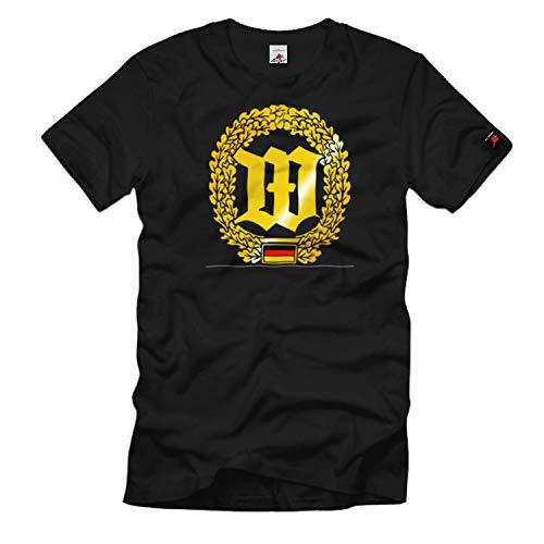 Barettabzeichen Wachbataillon Bundeswehr Wappen Emblem Einheit - T Shirt #1102, Größe:M, Farbe:Schwarz