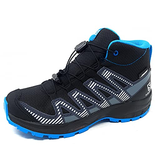 Salomon XA Pro V8 Mid Climasalomon™ Waterproof (wasserdicht) Kinder Trailrunning-Schuhe, Schwarz (Black/Monument/Hawaiian Ocean), 37 EU