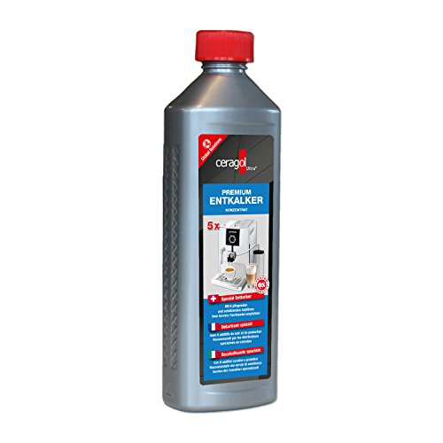 ceragol ultra Premium Entkalker, 500 ml – hoch-konzentrierter Kalkreiniger für alle Kaffee-Vollautomaten und Siebträgermaschinen, mit Amidosulfonsäure, für 5 Anwendungen