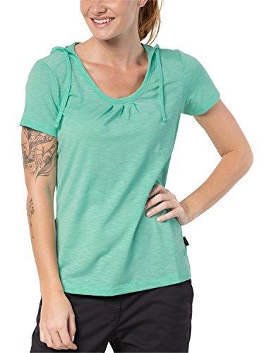 Jack Wolfskin Damen Shirt TRAVEL Hoody T Women Leicht Atmungsaktiv Kapuzen Shirt, Pale Mint, XS, 1804472-4091001