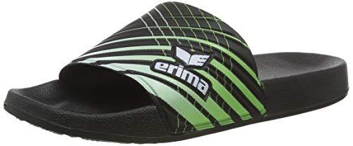 Erima Erilette, Unisex-Kinder Badeschuhe, Schwarz (schwarz/Green/weiß 950637), 38 EU (5 UK)