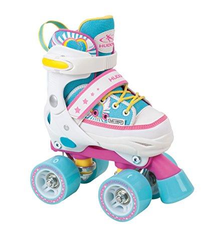 HUDORA Rollschuhe Kinder Mädchen Skate Wonders - verstellbar, Roller-Skates, Disco-Roller, Gr. 32-35, 22037
