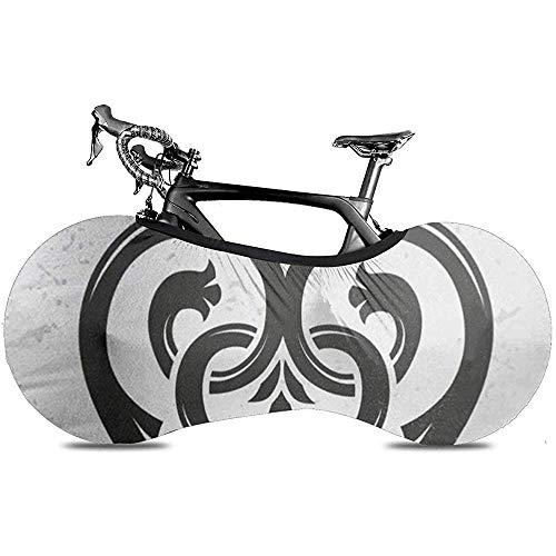 L.BAN Fahrrad Radabdeckung, Schützen Sie Zahnrad Fahrradabdeckung - Luckenbooth Brosche Vintage Schottische Herzform Krone Symbol Valentinstag
