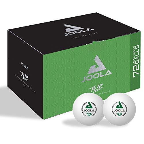 JOOLA Tischtennisbälle FLIP Tischtennis 72er Karton Selektierte 40+mm Durchmesser Premium TT-Trainings-Bälle Indoor und Outdoor Kompatible, Weiss, One Size