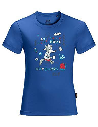 Jack Wolfskin Unisex Happy Camper T Kids T-Shirt, Coastal Blue, 140