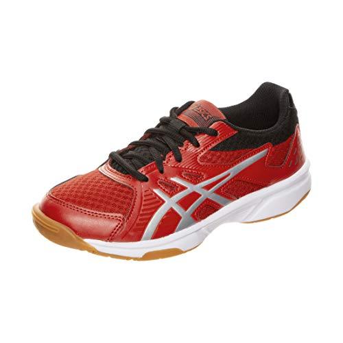 ASICS Unisex-Kinder Upcourt 3 Gs Leichtathletik-Schuh, Klassisches Rotes/Reines Silber, 35 EU