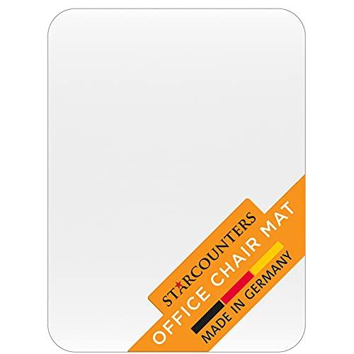 Bodenschutzmatte Bürostuhl Unterlage Schreibtischstuhl Unterlage - Bodenschutzmatte Transparent Schutzmatte Bürostuhl Matte - Stuhl Unterlegmatte Bürostuhlunterlage in Transparent | Made in Germany
