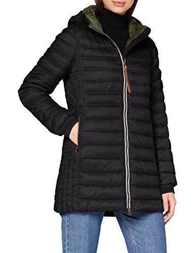 camel active Womenswear Damen 3206004E5009 Jacke, Black, 42